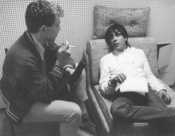 Interviewing Iggy 1982 – mit Iggy Pop hier: WDR Köln, Appellhofplatz.