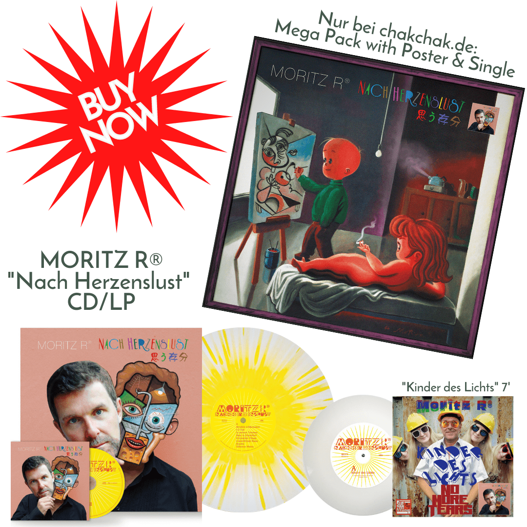 "Nur bei uns: Poster + Mega pack! Moritz R® - ""Nach Herzenslust"" CD & LP & Single ""Kinder des Lichts"""