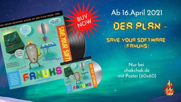 """DER PLAN - """"Save your Software"""" LP (Lieferung ab 16.04.2021) - nur bei chakchak.de auch mit Poster - chakchak art shop by Moritz R & Anja G"""